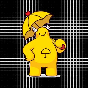 노란우산 캐릭터 산이 이미지
