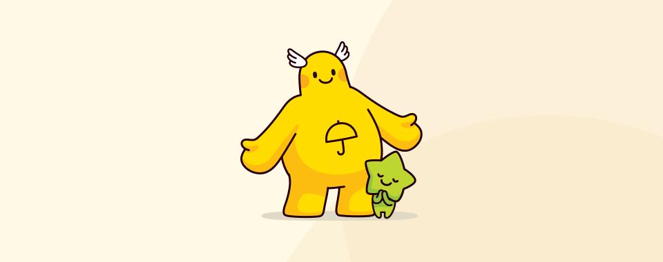 노란우산 캐릭터 이미지